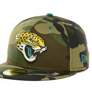 NFL Jacksonville Jaguars New Era Fitted Camo 59 Fifty Pop Hat