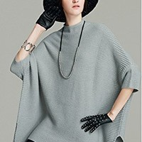 Women's Sweater Tops Three Quarter Sleeve Plus Size Loose Fitting