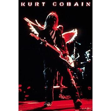 KURT COBAIN POSTER - LIVE IN CONCERT Wings Effect 24X36