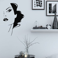 Wall Decals Vinyl Decal Sticker Murals Spa Beauty Salon Decor Girls Hair Kj491