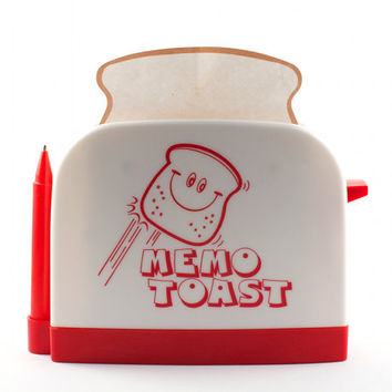 Memo Toast Novelty Stationary Kitsch Retro Note Pad Memo Pad Toaster / Vintage 80s 90s