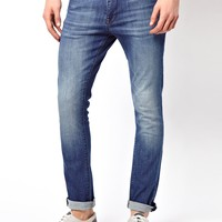 ASOS | ASOS Super Skinny Jeans In Washed Blue at ASOS