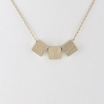 Gold Square Choker Necklace