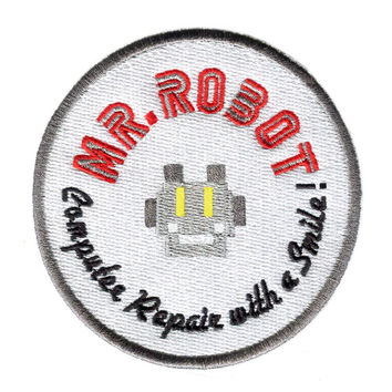 Something Different Large Round Mr. Robot Patch 8cm fsociety Badge for Shirt Hat Cap Jacket
