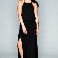 Show Me Your mumu Heather Halter Dress ~ Black Crisp