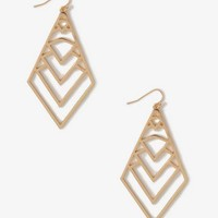 Cutout Dropped Diamond Earrings