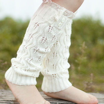 Children's Ivory Boot Socks