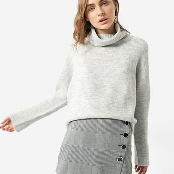 Polo neck sweater - Skirts | Stradivarius Nederland