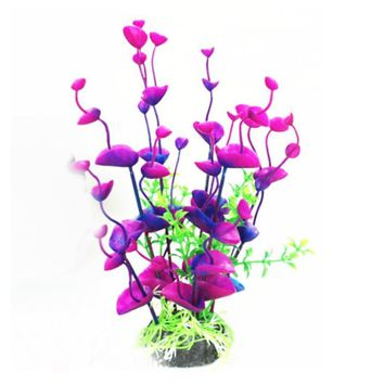 Aquarium Decoration Plants Home Artificial Purple Leaf Grass Fish Tank Aquarium Lovely Decoration XT