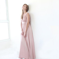 Perfect, Blush Pink,  Maxi Dress,Prom Dress