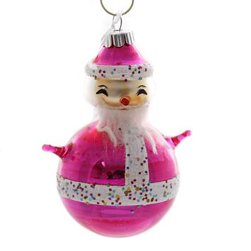 Shiny Brite VC FIGURES Glass Ornament 4027638Ss Pink