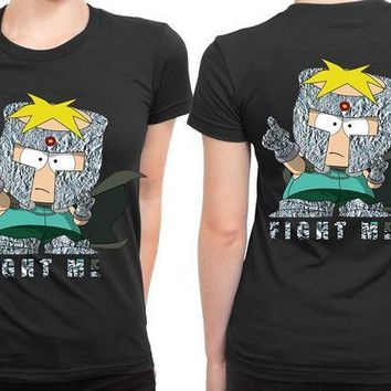 MDIGGW7 South Park Professor Chaos 2 Sided Womens T Shirt