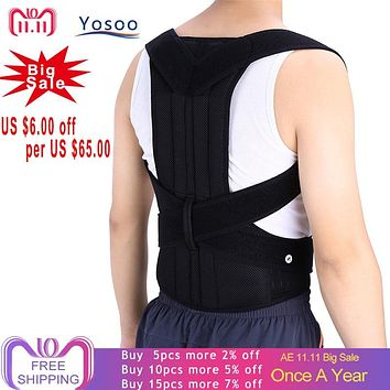 Adjustable Adult Corset Back Posture Corrector Therapy Shoulder Lumbar Brace Spine Support Belt