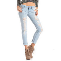 Refuge Destroyed Boyfriend Jean: Charlotte Russe