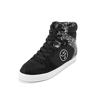 Zumba Womens Crew Street Charge Leather High Top Dance Shoes