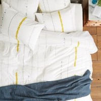 Coyuchi Dusted Chimes Duvet White