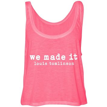 "Louis Tomlinson ""We Made It"" Cropped Tank Top"