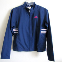 ROYAL ADIDAS JACKET, Vintage Adidas Clothing, Women's Outerwear, Royal Blue, Athletic Clothing, Running Jacket, Yoga Clothes, Windbreaker