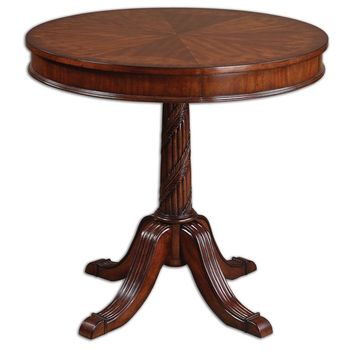Brakefield Pecan Round Table By Uttermost