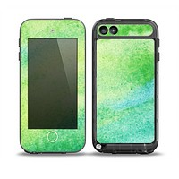 The Vibrant Green Watercolor Panel Skin for the iPod Touch 5th Generation frē LifeProof Case