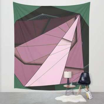 Shape Abstract Wall Tapestry by Ducky B