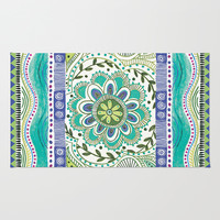 Boho Bloom Area & Throw Rug by Janet Broxon