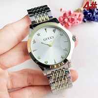 GUCCI Fashion New Dial Love Heart Star Women Men Watch Wristwatch