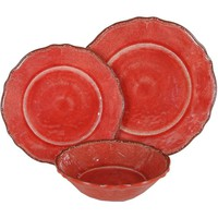 Antiqua Melamine Dinnerware | Red