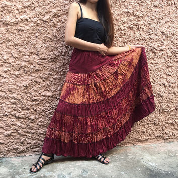 Maxi Long Skirt Festival Boho Patchwork Bohemian Women clothing Hippie Gypsy Vegan Dance Circle skirt unique gift for her handmade funky