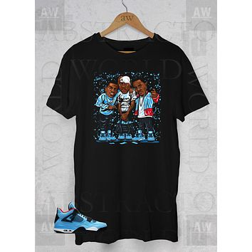 6102a6aaacbb84 Paid in Full Jordan 4 Cactus Jack 4s Adult Unisex T Shirt