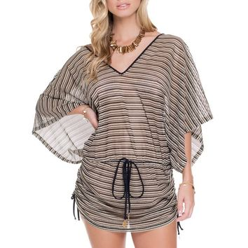 Luli Fama Black Beach Cover Up - Desert Babe