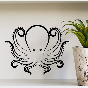 Wall Decal Octopus Kraken Tentacles Sea Animal Design Interior Wall Decals Living Room Bedroom Hotel Hostel Vinyl Stickers Home Decor 3871