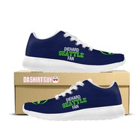 Diehard Seattle Fan Custom Printed Sneakers