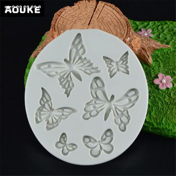 Butterfly Shape Fondant Cake Silicone Mold Biscuits Pastry Mould Ice cube Chocolate Candy Molds Cake Decoration DIY Baking Tools