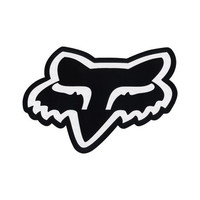 "Fox Fox Head 7"" Sticker Black One Size For Men 10477310001"