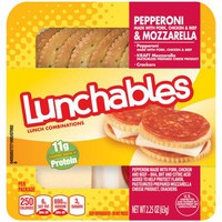 Lunchables Pepperoni & Mozzarella, 2.25 oz - Walmart.com