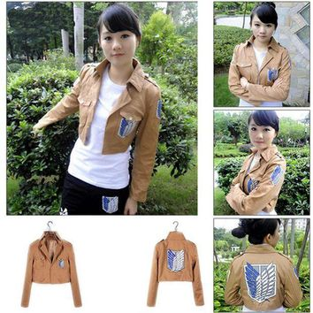 ac PEAPO2Q Cool cosplay Attack on Titan Shingeki no Kyojin Recon corps jacket coat costume