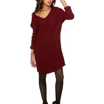Oxblood Sweaterdress - DRESSES - Apparel | Sexy Clothes Womens Sexy Dresses Sexy Clubwear Sexy Swimwear | Flirt Catalog
