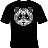 Panda Bear Day Of The Dead Mask T-Shirt Women's