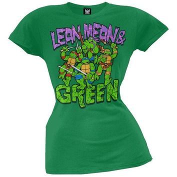 PEAPGQ9 Teenage Mutant Ninja Turtles - Mean & Green Juniors T-Shirt