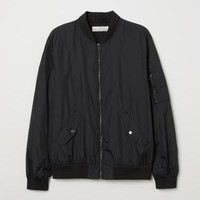 Nylon Bomber Jacket - Black - Men | H&M US