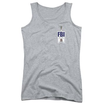 X Files - Scully Badge Juniors Tank Top