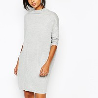 Vila | Vila High Neck Oversized T-Shirt Dress at ASOS