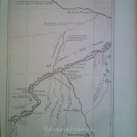 Antique Map of the Journey across the Amazon by Paul Marcoy 1866
