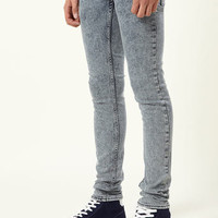 Snow Wash Spray On Skinny Jeans - Spray On Skinny Jeans - Men's Jeans  - Clothing