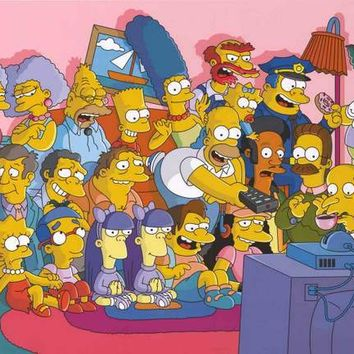The Simpsons Cartoon Cast Poster 24x36
