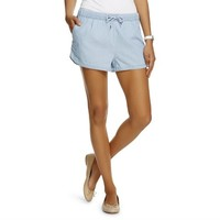 Women's Drawstring Chambray Shorts - One Fashion by Vero Moda