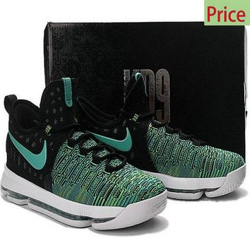brand new bb3e6 e04c9 cheap e fit shoes Big Boys Womens KD 9 IX Black Birds of Paradise Clear Jade