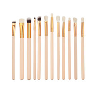 12Pcs Pro  Beauty Makeup Brushes Set Foundation Powder Eyeshadow Eyeliner Lip Blush Make Up Brush Tool