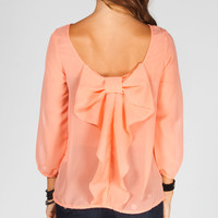 TRUTH Bow Back Womens Top